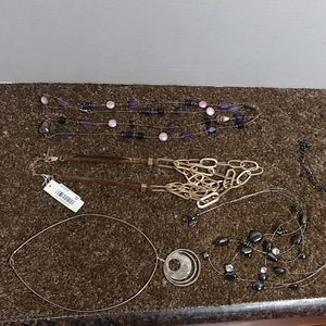 4 Assorted Necklaces. Sterling, Chicos, Macy's,